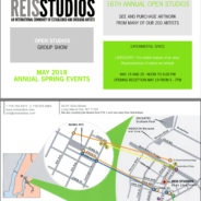 2018 Spring Open Studios Saturday and Sunday, May 19-20 12-6pm